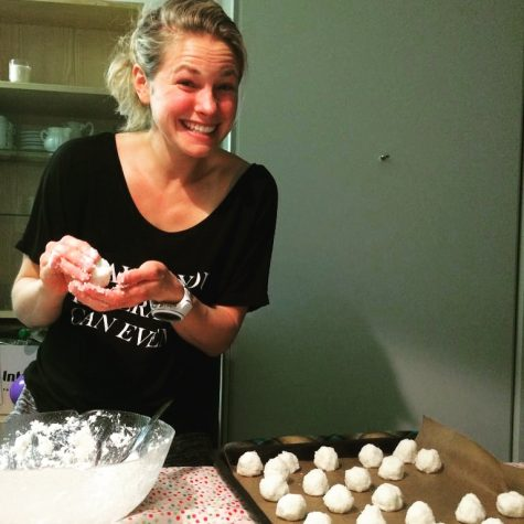 Doing some baking for a Holiday party with the Canadians! (photo from Liz)