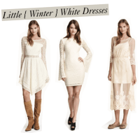 { Trend Hungry Tuesday } Little Winter-White Dresses ...