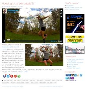 8-Bit Hoop Jam feature on Hooping.org, May 2015, Screen Shot
