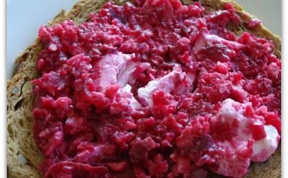 spread van rode biet en appel - Spread van rode biet en appel