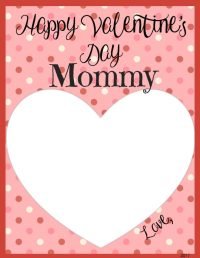Valentine's Day Memory Keepsake Printable Cards for