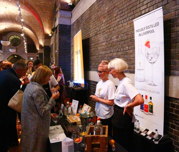 Liverpool Gin at the Gin Festival.