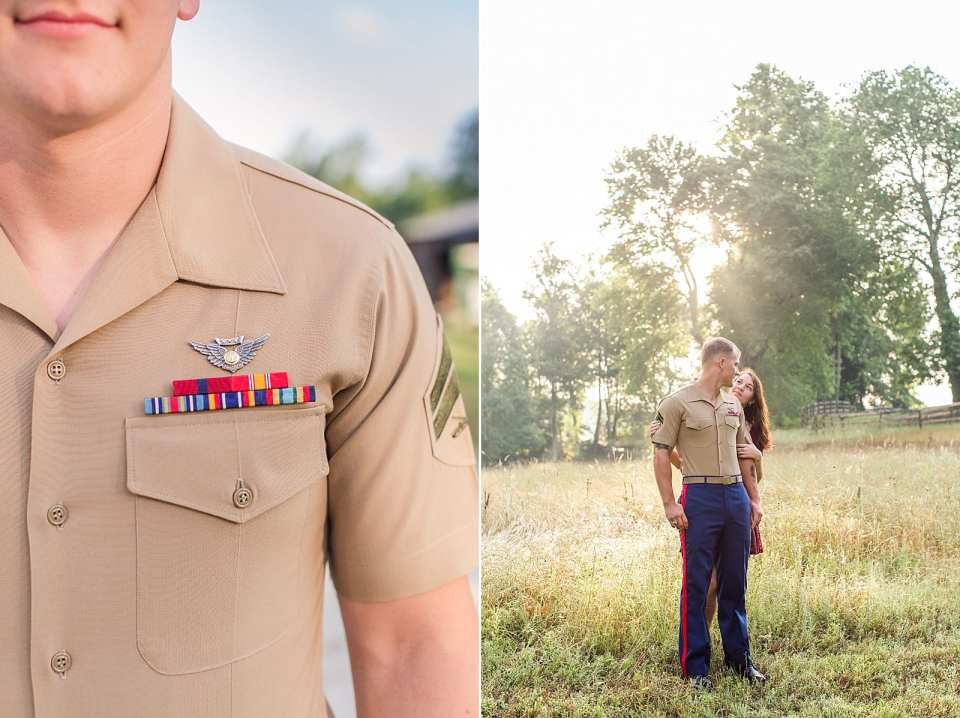 north carolina marine engagement session