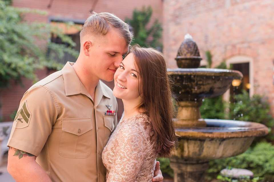 marine engagement session