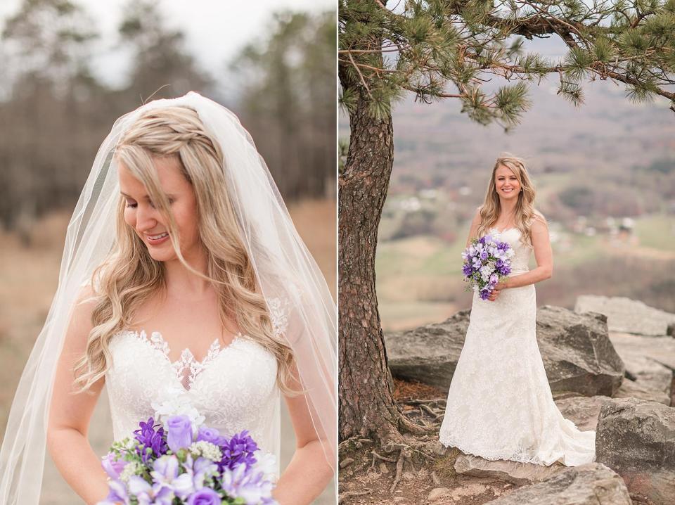 Pilot Mountain Bridal Session