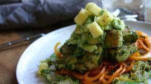 Cilantro Pesto Chicken with Butternut Squash Noodles