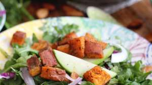 Creamy Kale and Arugula Salad with Roasted Sweet Potato: Primal Palate Guest Post