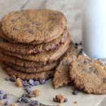 Jumbo Chocolate Chip Pumpkin Cookies {grain free}