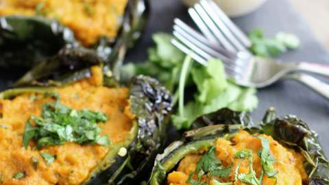 Roasted Poblano with Sweet Potato