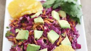 Red Cabbage Citrus Salad