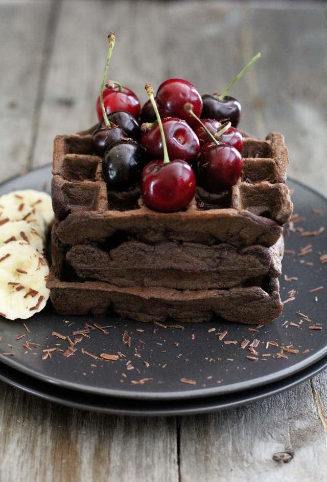Gluten Free Chocolate Banana Waffle: Jessi's Kitchen