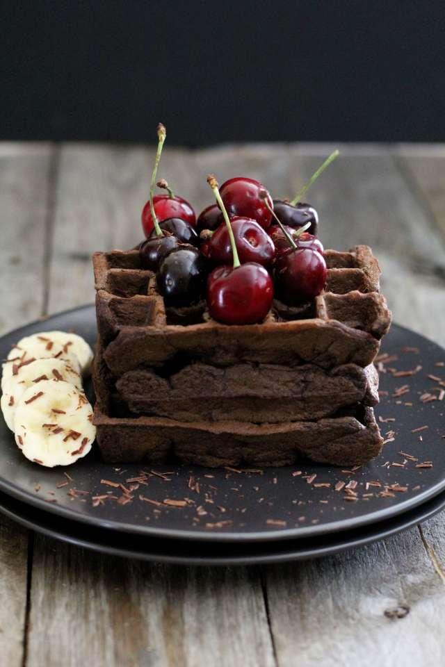 Gluten Free Chocolate Banana Waffle
