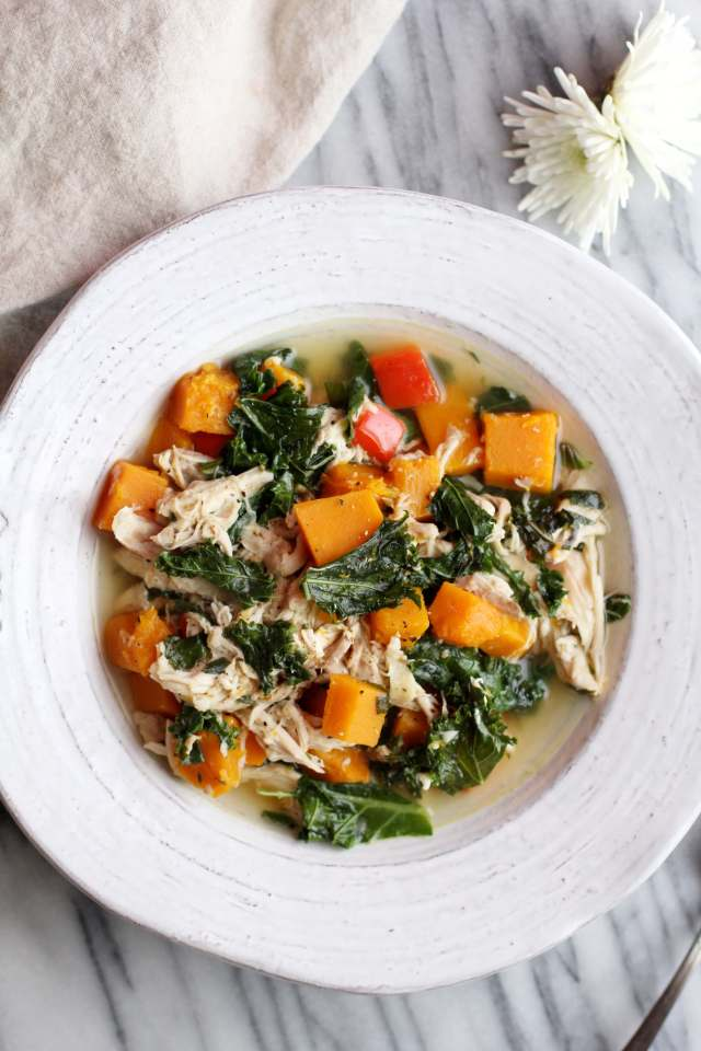 Chicken, Kale and Butternut Soup: Jessi's Kitchen