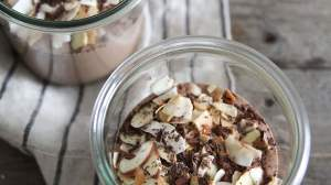Toasted Almond Joy Chocolate Chia Shake