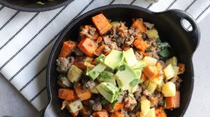 Sweet Potato and Parsnip Breakfast Hash