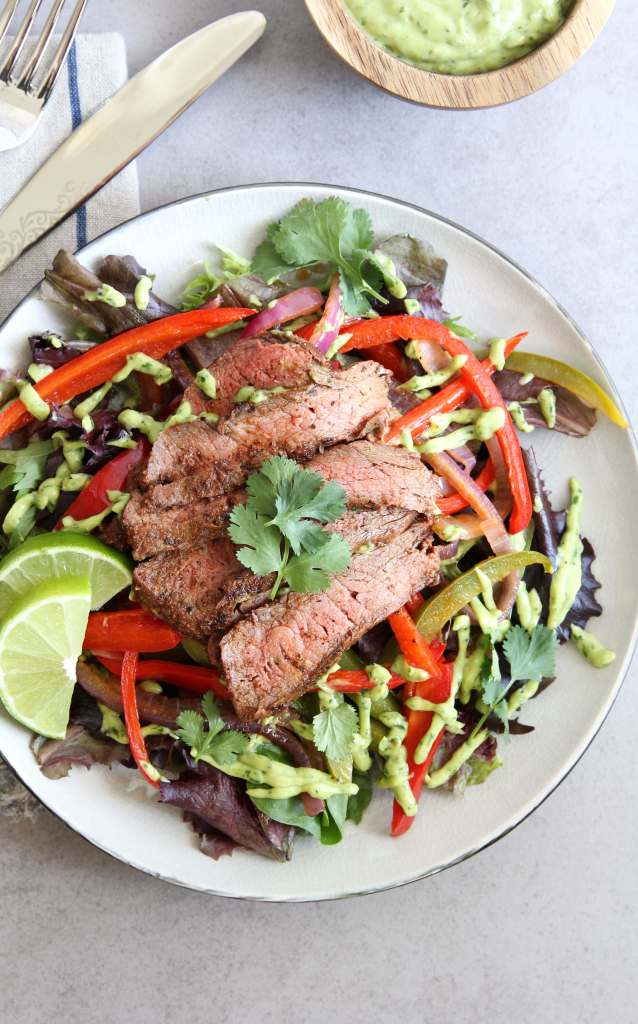 Fajita Steak Salad: Jessi's Kitchen