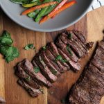 Grilled Skirt Steak with Pepper Slaw
