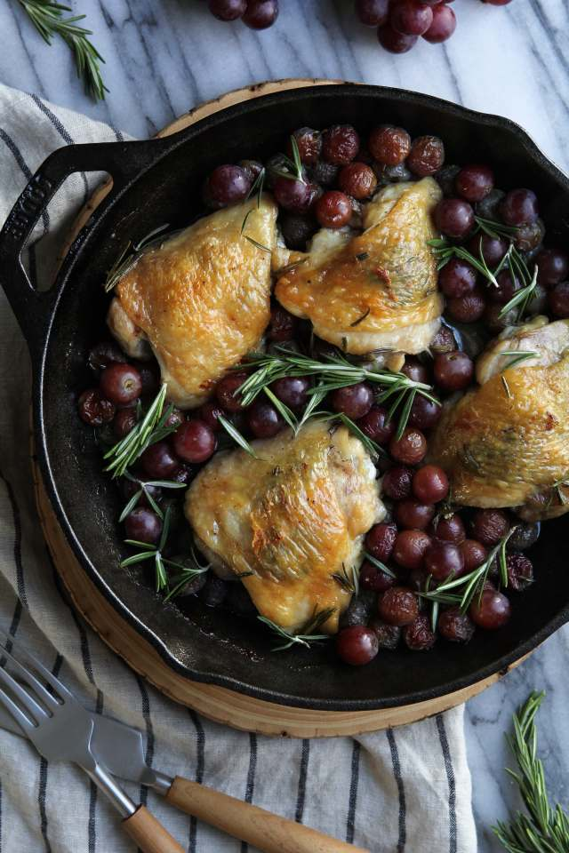 Rosemary and Garlic Chicken with Roasted Red Grapes: Jessi's Kitchen