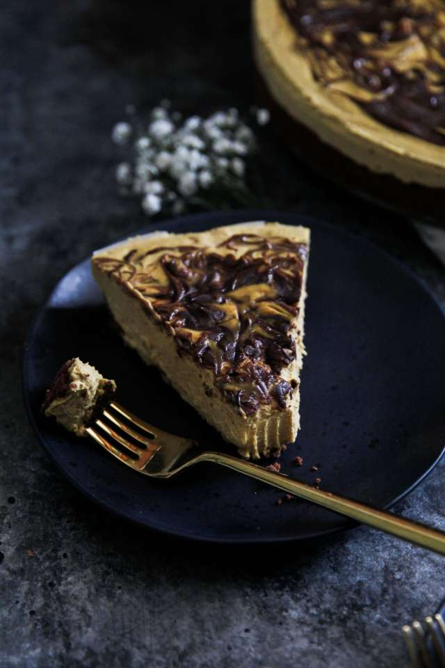 Vegan Pumpkin Chocolate Cheesecake: Jessi's Kitchen