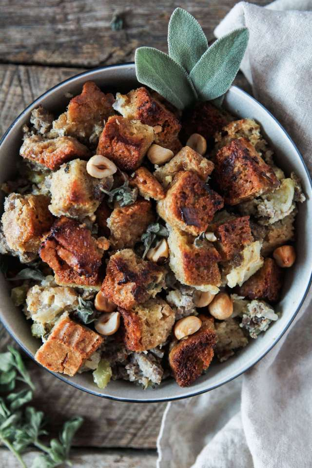 Sausage, Apple and Hazelnut Stuffing: Jessi's Kitchen