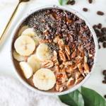 Peanut Butter, Banana Mocha Smoothie Bowl