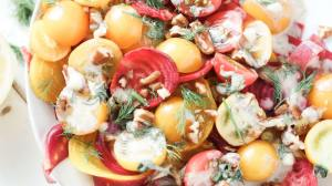 Roasted Beet and Cherry Tomato Salad