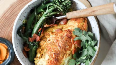 Turmeric Roasted Chicken with Broccolini
