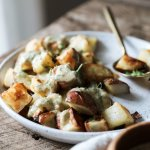 Roasted Potatoes with Tahini Sauce