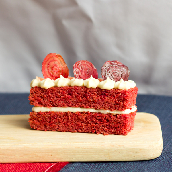 Vanilla Beetroot Cake made with Lentils