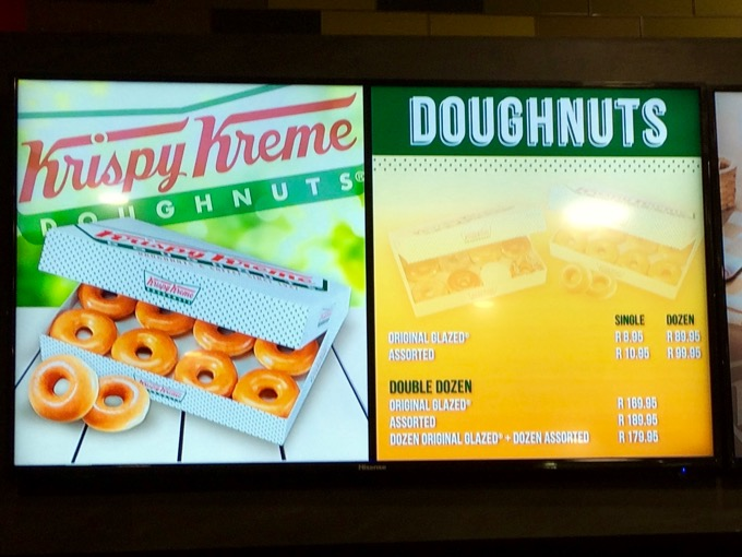 Krispy Kreme South Africa Prices