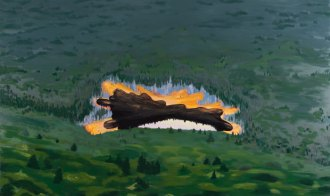 """Dead Lake."" Oil on Panel, 60in x 36in, 2012"