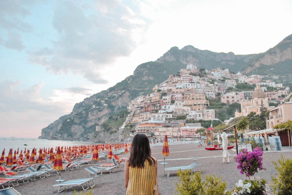 view of Positano Amalfi coast Italy