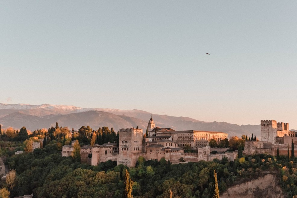 View of the Alhambra from the Mirador de San Nicolás