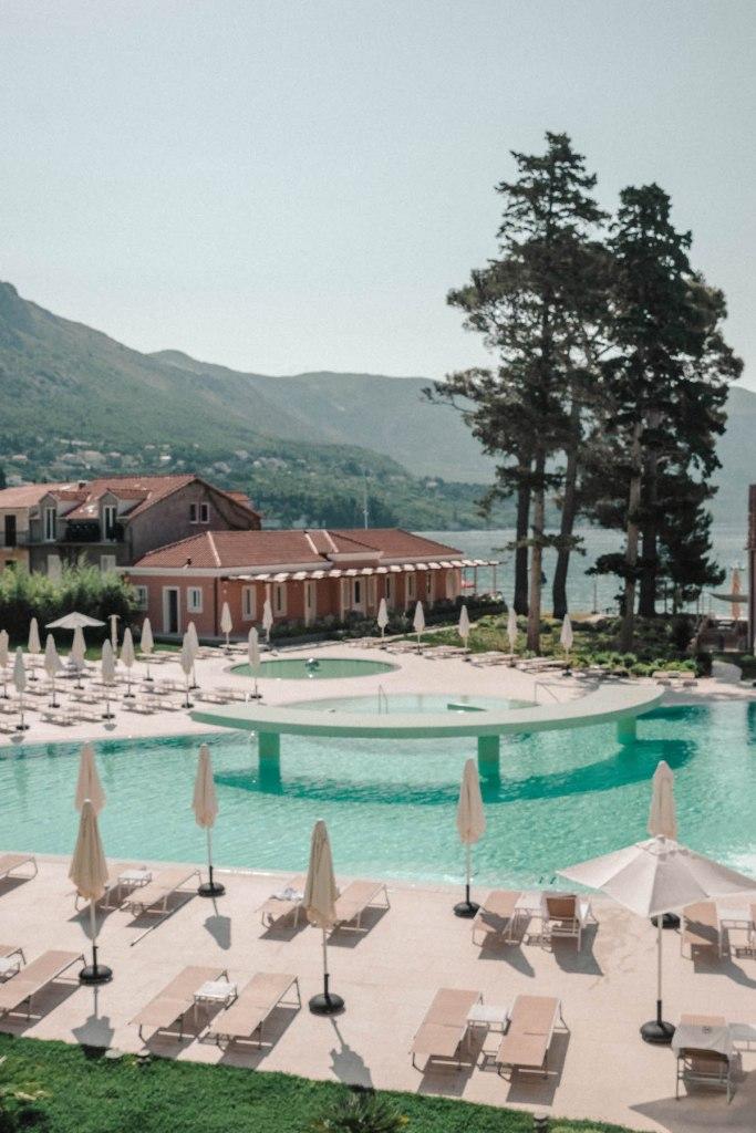 Pool views at the Sheraton Dubrovnik Riviera