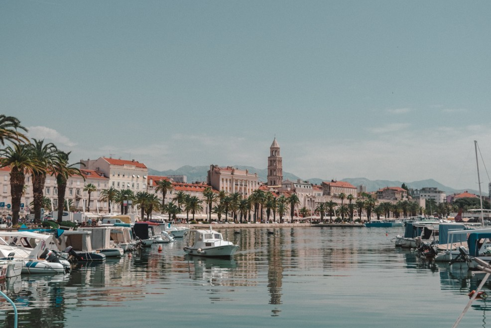 View of the Riva in Split Croatia