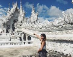 The majestic White Temple of Chiang Rai.