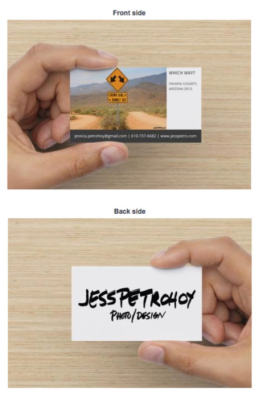 Example of New Business Card
