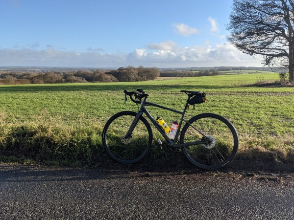 My bike on the south downs