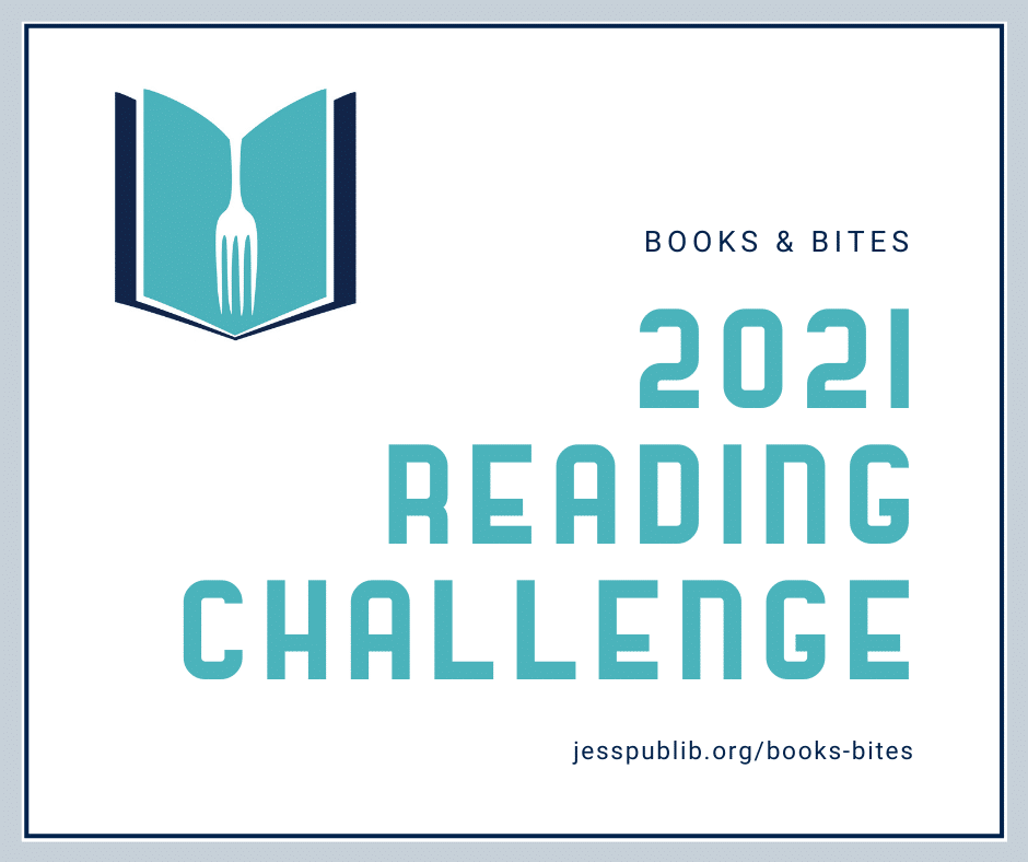 Books and Bites 2021 Reading Challenge blog header
