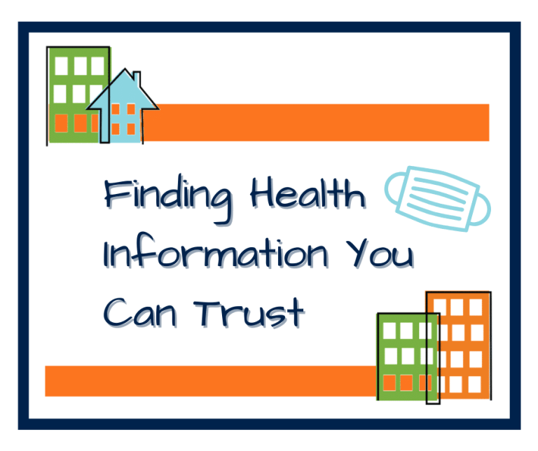 Finding Health Information blog header