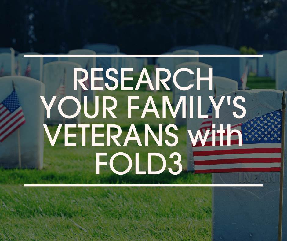 Research Your Family's Veterans with Fold3 header