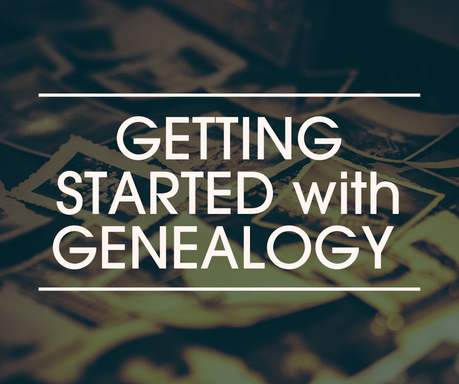 Getting Started with Genealogy header