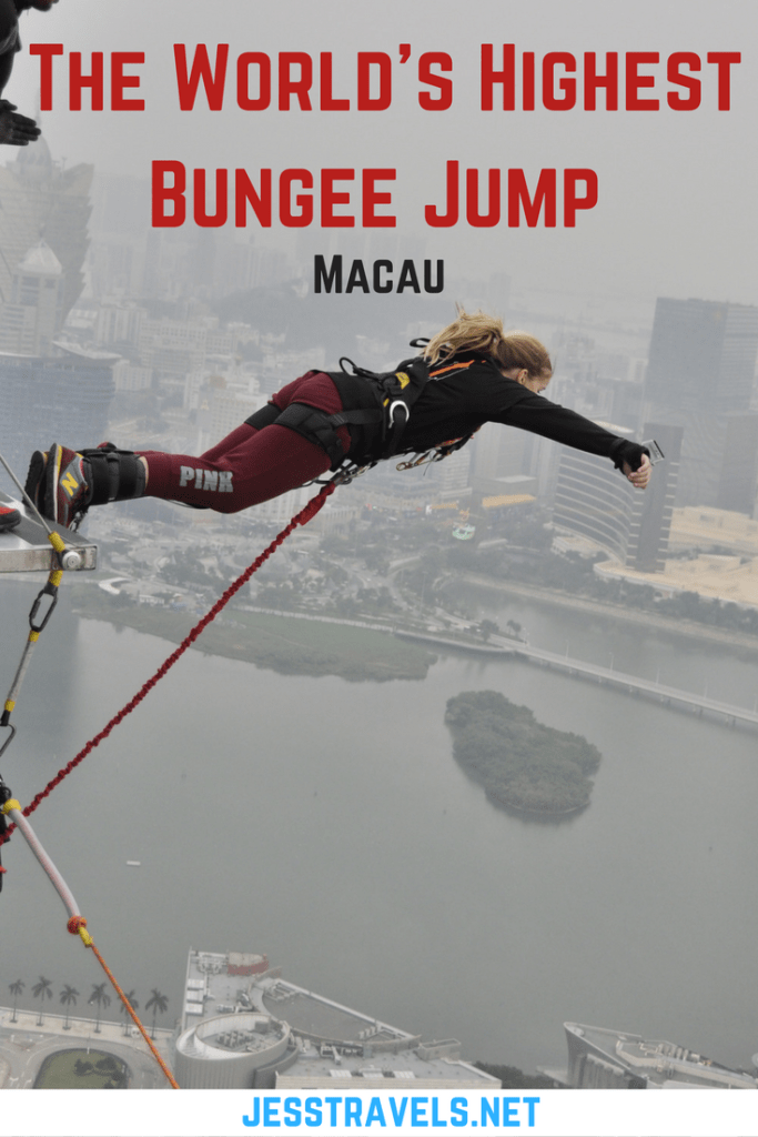 The World's Highest Bungee Jump - the Macau Tower. This is a blog about my bungee jump in Macau- China. It is the highest bungee jump in the World at 233m / 764ft ! Bungee video and Gopro video also included. Click through to read more..