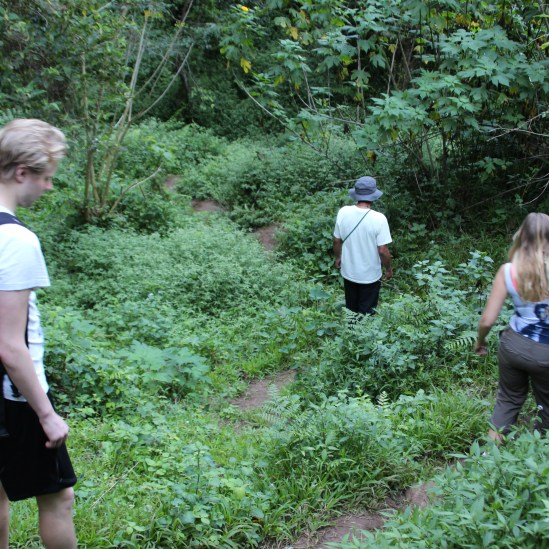 Trekking to see the coffins