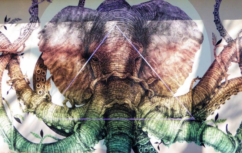wynwood walls miami florida street art colourful elephant octopus