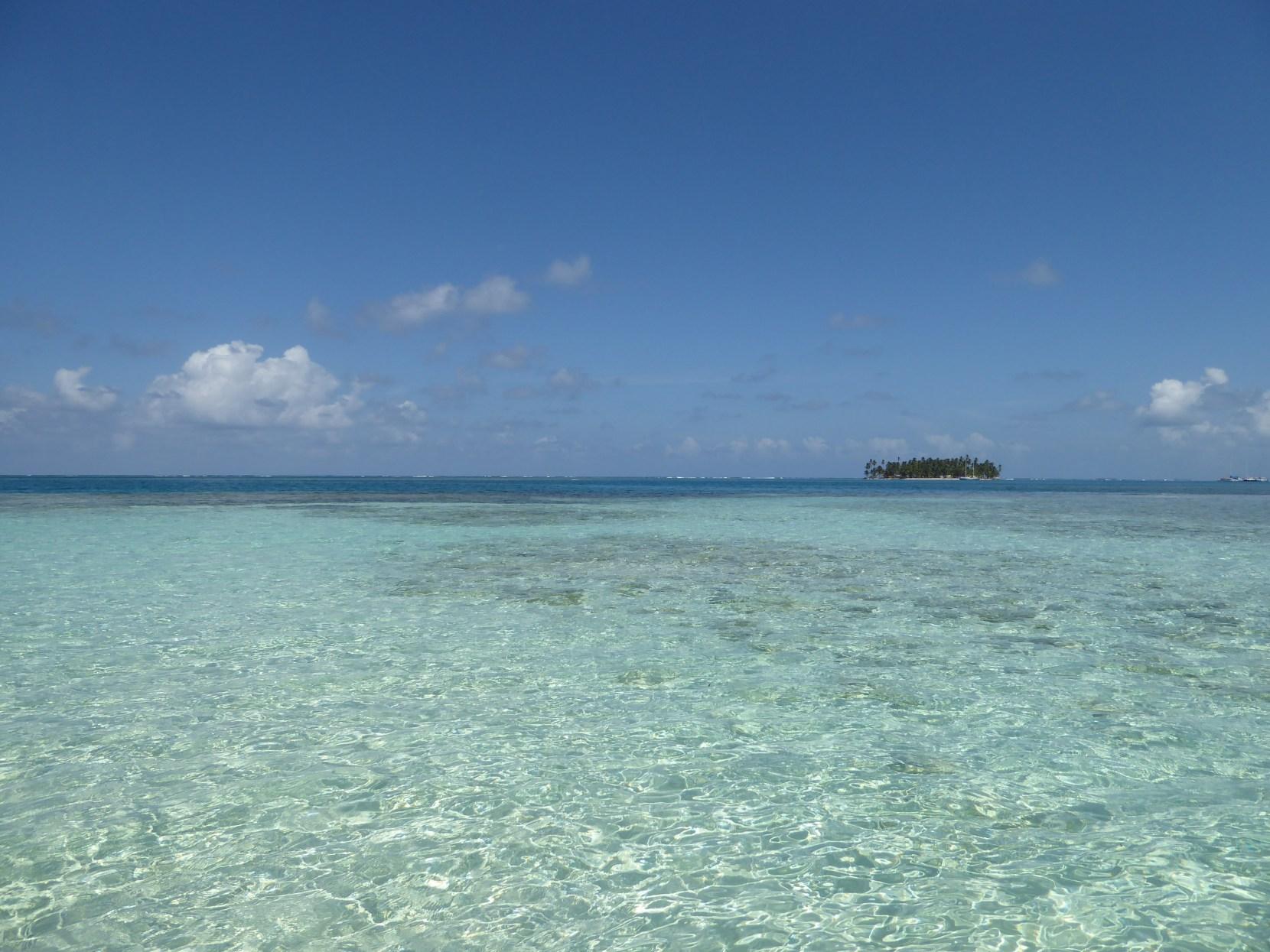 san blas islands island panama guna yala boat sand bank sea sun sand