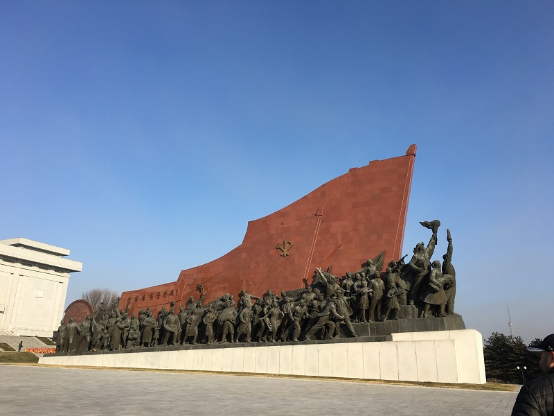 Mansu Hill Statue depicts the working Korean people