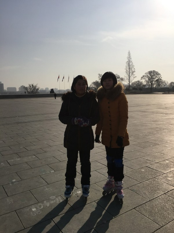 teenagers pyongyang north korea roller skating