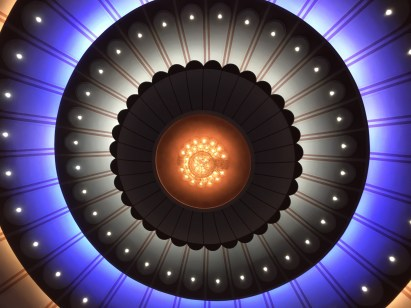 The ceiling of the theatre
