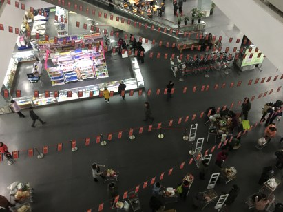 The view from the escalator